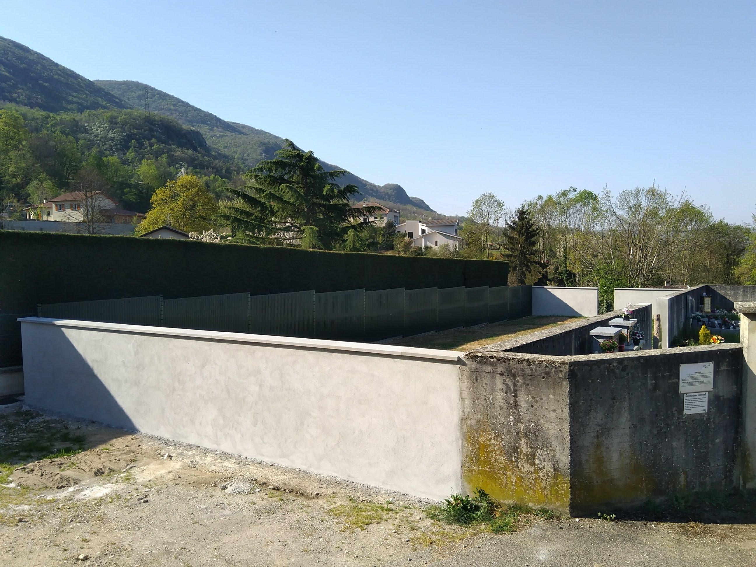 Extension de cimetière