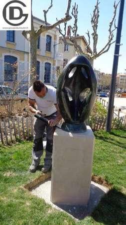 Photo de l'actualité Socle sculpture TOROS - Romans sur Isère